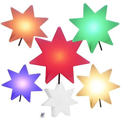 Northpoint LED Stern XXL Weihnachts-Dekoration Indoor Outdoor Dekoration RGB Akku Erdspieß Fernbedienung