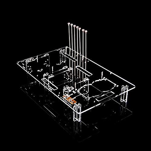 Electric Magic ATX-Gehäuse mit offenem Gehäuse, Acryl, durchsichtig, HTPC, offenes Gehäuse, Persönlichkeit, PC Testbank, offener Rahmen transparent Purely transparent 1N