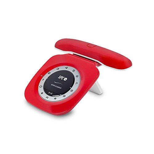 SPC Telecom TEL317707R - Teléfono Fijo, Incluye DECT, Color Rojo