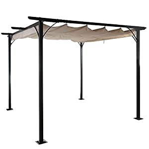 pergola avila garten pavillon terrassen berdachung stabiles 6cm gestell. Black Bedroom Furniture Sets. Home Design Ideas
