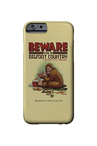 Lincoln City, Oregon - Bigfoot Country - Don't Store Food in Tent (iPhone 6 Cell Phone Case, Slim Barely There)