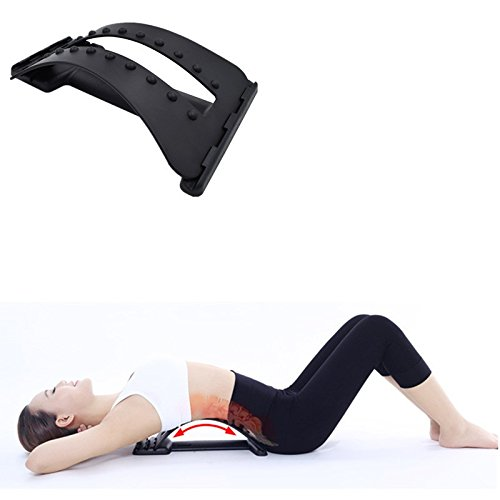 Back Massage Stretcher Stretching Magic Lumbar Support Waist Neck Relax Mate Device Spine Pain Relief