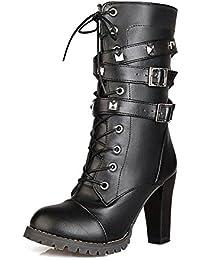 Chaussures femmes bottes Avec décoration noir 41 MBz09E