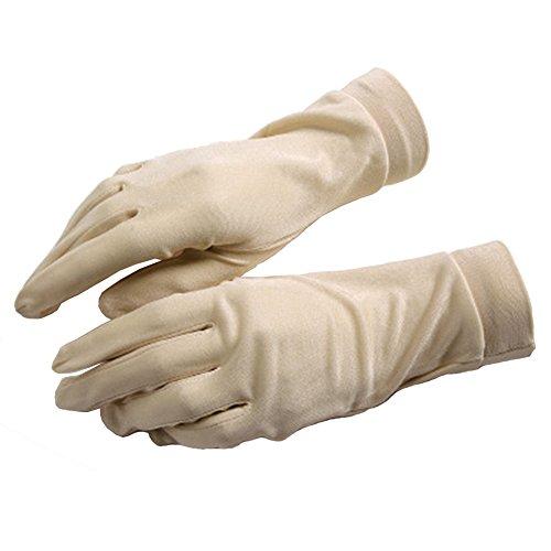 guanti seta Q.KIM Guanti Pura Seta Fodera Termica Guanto Interno Sottoguanti Idratanti Protezione solare Anti-UV