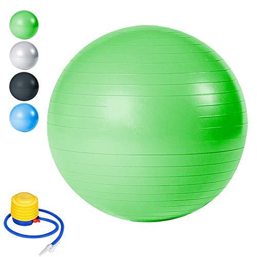 Wolketon Gymnastikball Balance Ball für Core Strength Beckenübungen Sitzball Maximalbelastbarkeit bis 300kg Pilates-Ball im Gym-Home-Büro