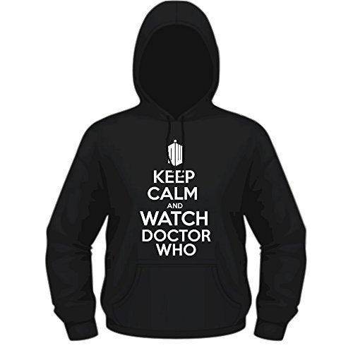 Creepyshirt - KEEP CALM AND WATCH DOCTOR WHO HOODIE - M