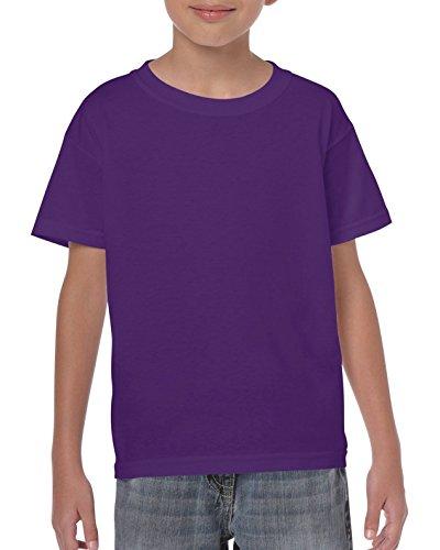 Gildan Maglietta in cotone pesante da bambino X-Large,Purple