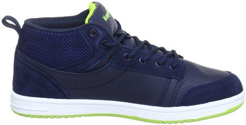 KangaROOS Skye, Jungen Sneakers Blau (dk navy/lime 481)