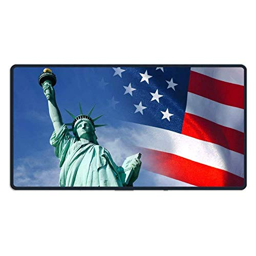 hanbaozhou Fußmatten Large Mouse Pad Happy Independence Day Computer Mouse Mat (29.5x15.7x0.1IN,75x40CM) -