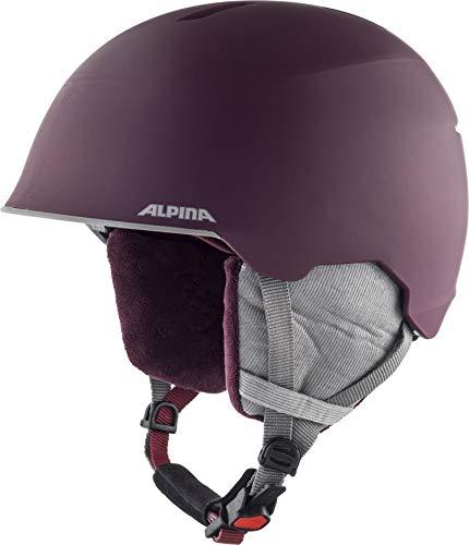 Alpina Unisex Jugend MAROI JR Ski- und Snowboardhelm, cassis matt, 53-57 cm