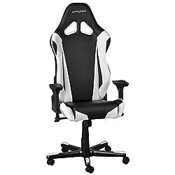 DX Racer Oh/RZO/NW Gaming-Stuhl, Schwarz/Weiß