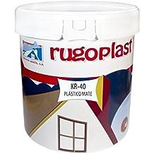 Pintura plástica blanca mate lavable de alta calidad interior / exterior ideal para decorar tu casa ( salón, cocina, baño, dormitorios... ) KR-40 (23 Kg) Envío GRATIS