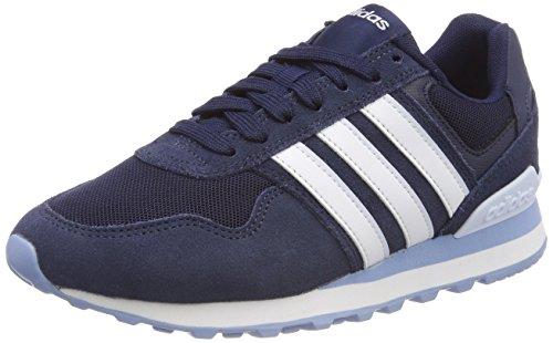 adidas Damen 10K Fitnessschuhe, Blau (Collegiate Navy/Ftwr White/Aero Blue S18 Collegiate Navy/Ftwr White/Aero Blue S18), 40 EU Frauen-tennis-schuhe Blau