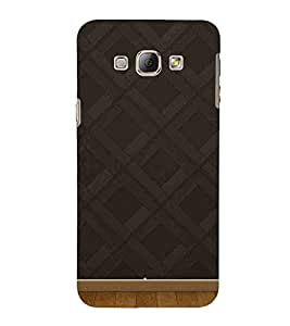 For Samsung Galaxy A8 (2015) :: Samsung Galaxy A8 Duos (2015) :: Samsung Galaxy A8 A800F A800Y black wall on the wood floor, 3d rendering Designer Printed High Quality Smooth Matte Protective Mobile Case Back Pouch Cover by APEX