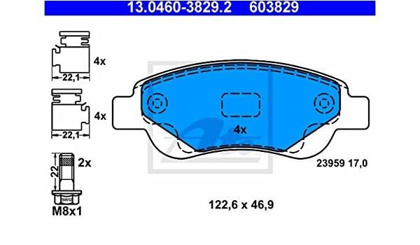 ATE 13.0460-2747.2 4x Bremsbel/äge hinten