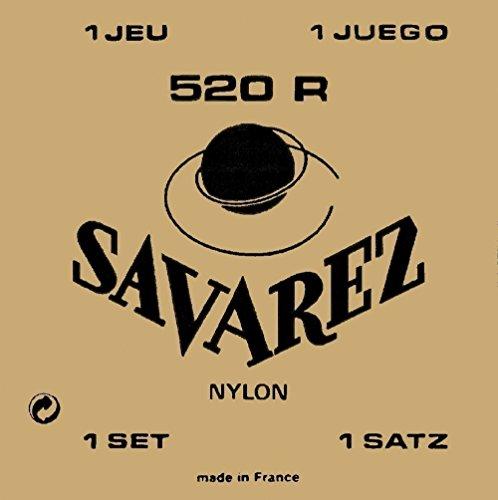 Savarez 525J A-Einzelsaite Yellow Card Super High Tension - Nylonsaite Versilbert umsponnen für Konzertgitarre