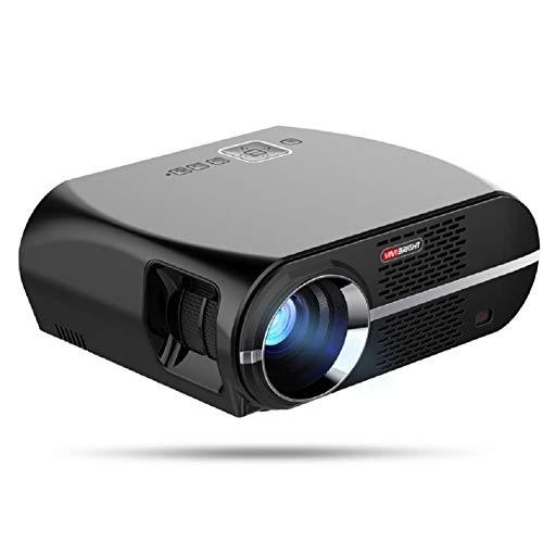 (LinZec Gp100 Home Projektor, Support 1080P Projektion, Home Business Portable Projector, Black)