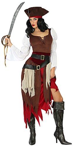 Imagen de disfraz de pirata marrón para mujer
