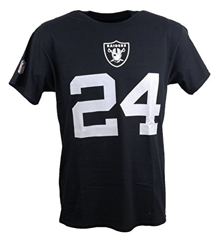 Majestic Athletic NFL Oakland Raiders Marshawn Lynch Eligible Receiver  T-Shirt Large ... 0a5990fe79119