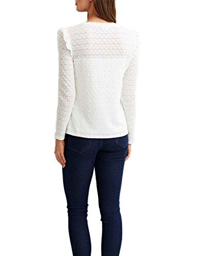 Vila Viwisty L/S T- Shirt Bianco Donna Bianco