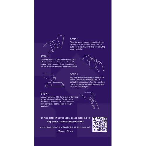 OnlineBestDigital - Apple iPhone 4S / iPhone 4 Anti-rayures Case Protection d'écran / Guard / Film / Foil / Couverture - Confidentialité Anti Spy (Pack de 1) Verre Trempé