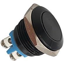Gazechimp Bouton-poussoir Interrupteur Momentané en Métal Imperméable à l'eau 16mm pour Voiture