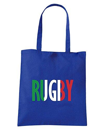 T-Shirtshock - Borsa Shopping TRUG0167 rugby italy logo Blu Royal