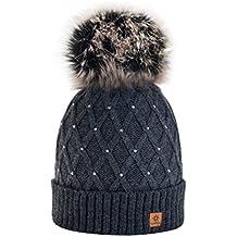 Morefaz - Gorro de invierno para mujer f53f10f6073