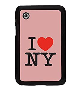 I Love New York 2D Hard Polycarbonate Designer Back Case Cover for Samsung Galaxy Tab 2 :: Samsung Galaxy Tab 2 P3100