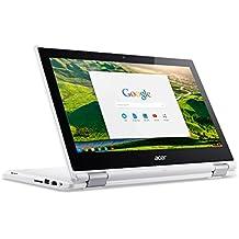 """Acer Chromebook  CB5-132T Ordinateur 2-en-1 Tactile 11"""" Blanc (Intel Celeron, 4 Go de RAM, Mémoire 32 Go, Chrome OS)"""