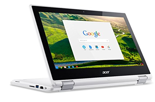 Acer Chromebook  CB5-132T Ordinateur 2-en-1 Tactile 11' Blanc (Intel Celeron, 4 Go de RAM, Mémoire 32 Go, Chrome OS)