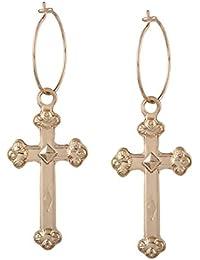 Nueva personalidad, aretes elegantes y sencillos, exquisitos colgantes en forma de cruz, aretes