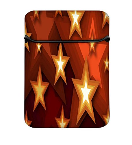 Snoogg Browny Sterne 25,4cm einfachen Zugang Gepolstertes Laptop Schutzhülle Flip Sleeve Tasche