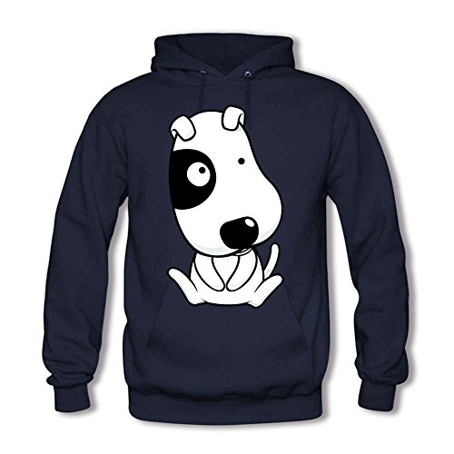 Men Hoodie Sweatshirts Cute Puppy Dog Printed Unisex Hooded Pullover Navy XL (Camo Hoodie Dog Sweatshirt)