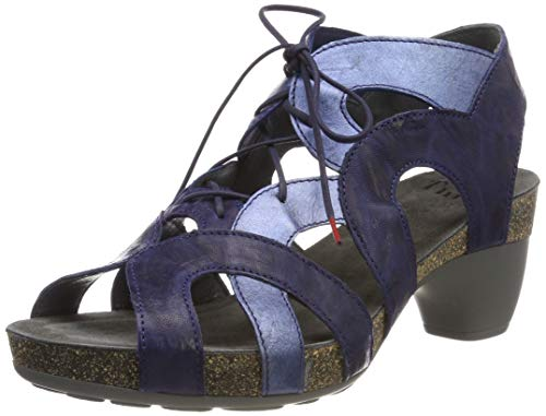 Think! Damen Traudi_484576 Geschlossene Sandalen, Blau (Indigo/Kombi 90), 39 EU
