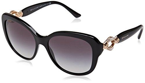 Bulgari Damen 0BV8180B 501/8G 57 Sonnenbrille, Schwarz (Black/Gradient),
