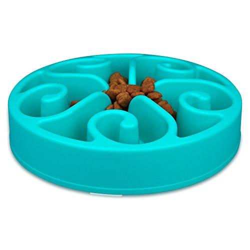 wangsta® Langsam-Feed Hundenapf, Spaß Interactive Feeder Langsam-Feed und Wasser trinken Bowl (Blau) (Wasser Schüssel Hund Langsam Trinken)