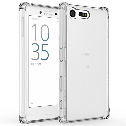 Sony Xperia X Compact Hülle, IVSO Ultra Slim Rückseite Schutzhülle für Sony Xperia XCompact Smartphone (11,7 cm (4,6 Zoll) (Für Sony Xperia X Compact, Transparent)