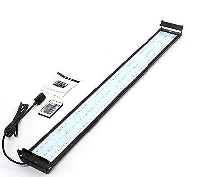 TUDIO Éclairage Aquarium LED, Lumière Aquarium avec Télécommande, Lumière Corail, avec Changement De Couleur pour La Décoration De La