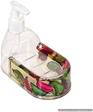 Skywalk Plastic Contemporary Liquid Soap Dispenser, (Multicolour, SWKA8)