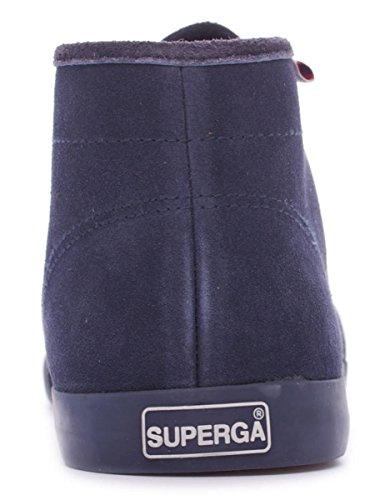Superga 2183 Suem hommes, suède, bottes FULL BLUE
