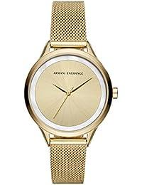 7464a303dd0e Armani Exchange Damen Analog Quarz Uhr mit Edelstahl Armband AX5601