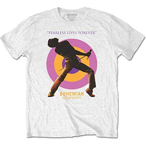 Queen Freddie Mercury Bohemian Rhapsody Mic offiziell Männer T-Shirt Herren (Medium) - Rhapsody Tee