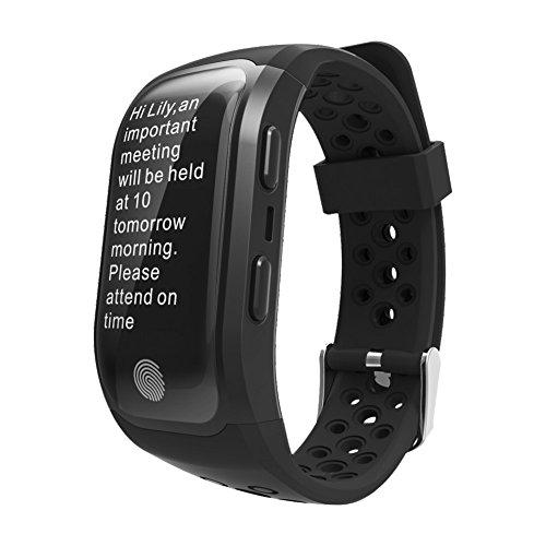 TechCode Fitness Tracker, Fitness Smart Armband Bluetooth Pulsmesser IP68 Wasserdicht GPS Smart Band Armband Tracker Smartband Uhr für iOS Android Handys Telefon(S908-Schwarz)