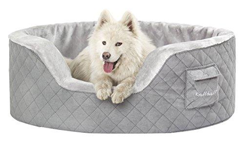 Knuffelwuff 13082 Hundebett Henry aus 5 cm Schaumstoff - Größe XXL, 100 x 80 cm, grau