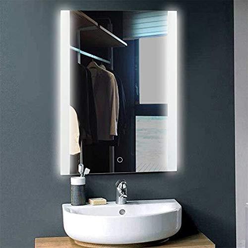 Espejo Inteligente Gabinete Baño montado en la Pared con Luces LED Música de Bluetooth Tiempo antiniebla Vestidor Gabinete de baño...