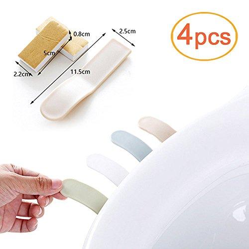Lezed Toilettenaufkleber   Toilettenhandgriff Abdeckung   Toilettendeckelgriff   Praktische Toilettendeckel öffnen Sticking   Einfache Toilettenabdeckung offenes Gerät (4 Pcs) (Einweg Seat Cover Kinder)