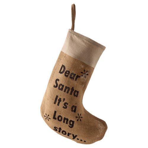PD Toile de jute pour chaussette de Noël Motif Dear Santa It \\