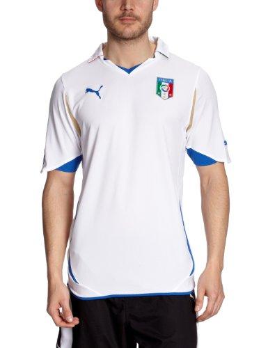 Puma Herren Italien Auswärts-Trikot Replica, white-team gold, L, 736648 - Trikot Nationalmannschaft Italienische