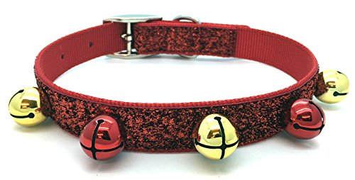 sband–Rot Glitzer. Kleine 29,2cm–39,4cm/29–39cm (E Walk Dog Kostüm)